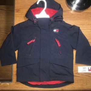 Tommy Hilfiger hooded jacket boys size 2T NWT